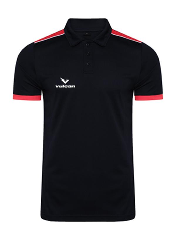 vulcan-sports-Polo-Black-Red